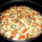 Дієтична овочева запіканка з кабачками, помідорами і баклажанами