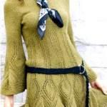 Оригінальне в'язане плаття спицями на кожен день і для торжества