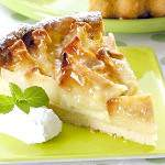 Відкритий пиріг з яблуками і корицею