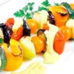 Овочевий шашлик - кращі рецепти приготування