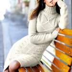 Теплі сукні: в'яжемо самі